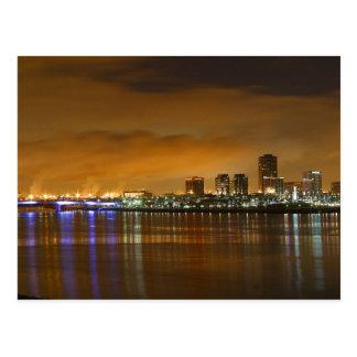 Long Beach at Sunset Postcard