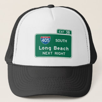 Long Beach, CA Road Sign Trucker Hat