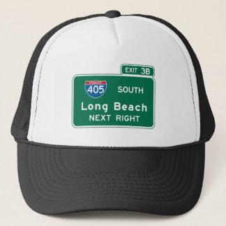 Long Beach, CA Road Sign Trucker Hat