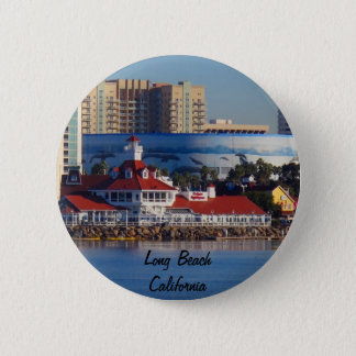 Long Beach California 2 Inch Round Button