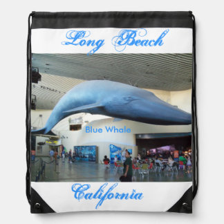 Long Beach, California Blue Whale Cinch Bags