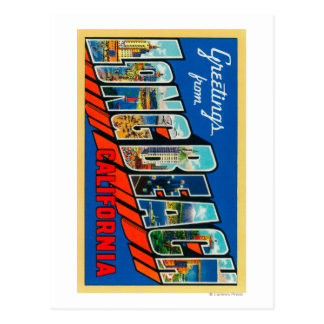 Long Beach, California - Large Letter Scenes Postcard