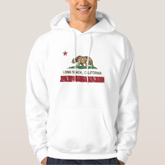 Long Beach California Republic Flag Hoodie