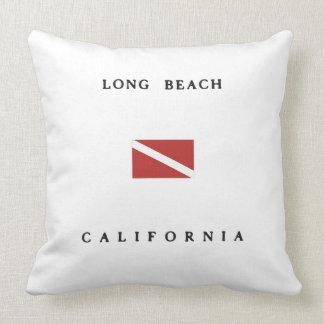 Long Beach California Scuba Dive Flag Throw Pillow