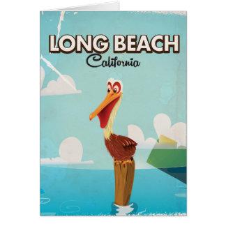 Long Beach California Vintage Pelican travel Card