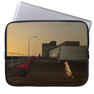 Long Beach Promenade, Long Island, NY Laptop Sleeve