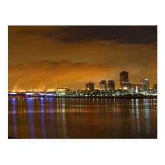 Long Beach Skyline Postcard