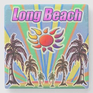 Long Beach Summer Love Coaster Stone Beverage Coaster