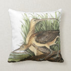Long-billed Curlew by Audubon Throw Pillow