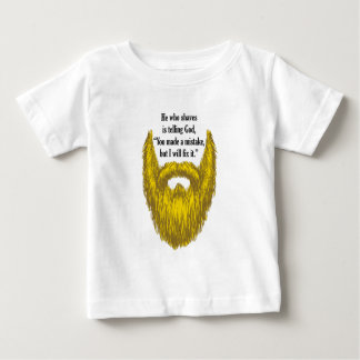 Long Blonde Beard Baby T-Shirt