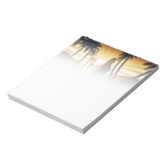 Long board at sunrise notepad