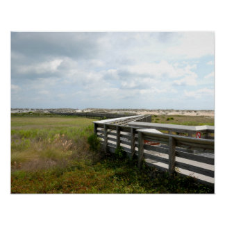 Long Boardwalk To The Beach St. Augustine, Florida Poster