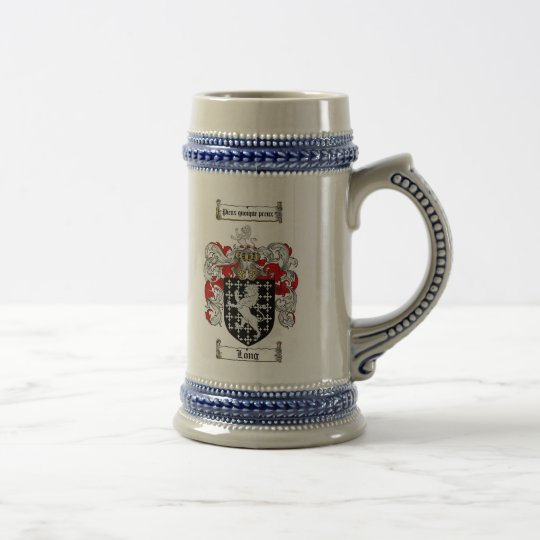 Long Coat of Arms Stein / Long Family Crest Stein
