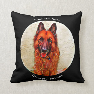 Long Coated Wire Haired German Shepherd GSD Pillow