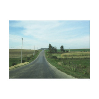 Long Country Road Wall Canvas Art