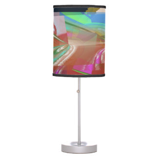 Long Curved Coloured Light Table Lamp