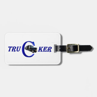 Long-distance truck driver luggage tag