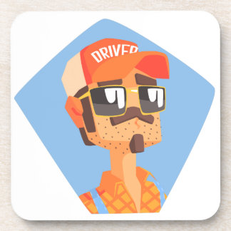 Long Distance Truck Driver Portrait Coaster