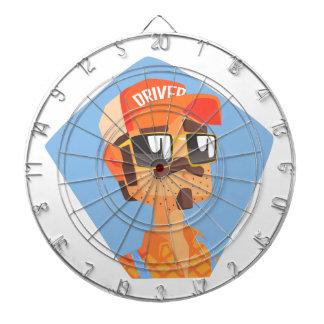 Long Distance Truck Driver Portrait Dartboard