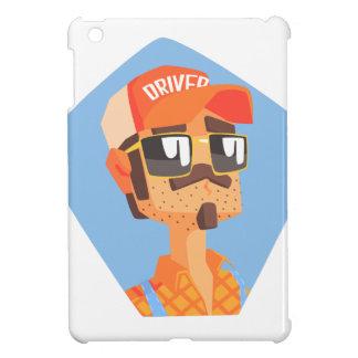 Long Distance Truck Driver Portrait iPad Mini Covers