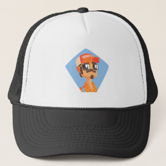 Long Distance Truck Driver Portrait Trucker Hat