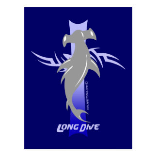 Long Dive: Hammerhead Postcard