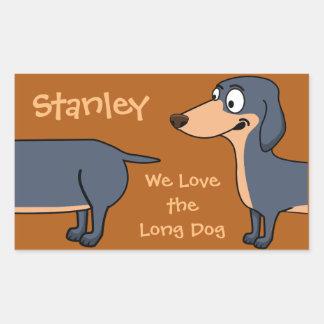 Long Dog - Dachshund Rectangle Sticker(Sheet of 4) Sticker