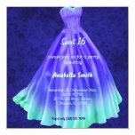 Long dress Sweet 16 (Blue)