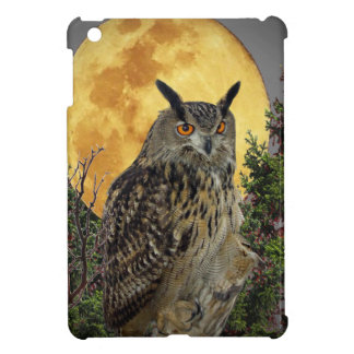 LONG EARED OWL BY MOONLIGHT iPad MINI COVER