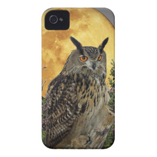 LONG EARED OWL BY MOONLIGHT iPhone 4 COVER