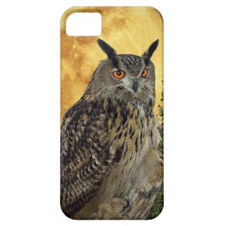 LONG EARED OWL BY MOONLIGHT iPhone 5 CASE