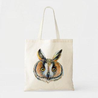 Long- eared owl portrait