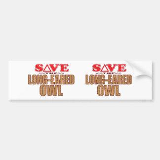 Long-Eared Owl Save Bumper Sticker