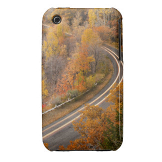 Long exposure of car driving on road through iPhone 3 covers