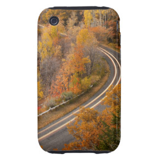 Long exposure of car driving on road through tough iPhone 3 case