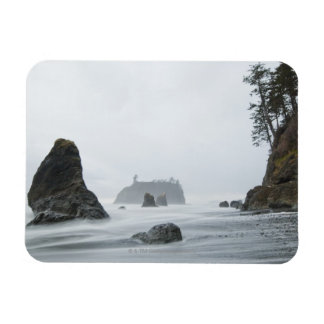Long exposure of wave motion at Ruby Beach, Magnet