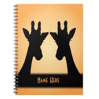Long Eyelashes Giraffe Custom Text Notebooks