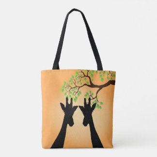Long Eyelashes Giraffe Tote Bag
