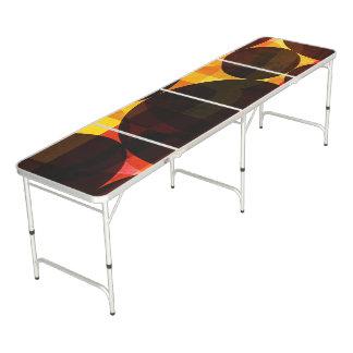 Long Folding Table with Modern Shape Pattern