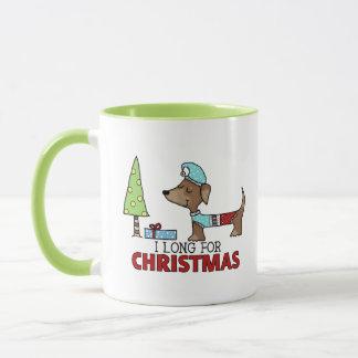 Long for Christmas-Dachshund Mug