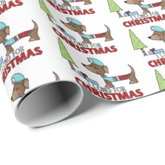 Long for Christmas-Dachshund Wrapping Paper