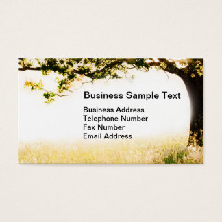 Long grass and tree in morning light business card