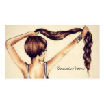 Long Hair Beauty Business Card Template