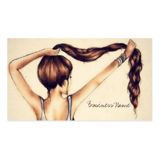 Long Hair Beauty Pack Of Standard Business Cards