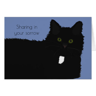 Long Hair Cat Pet Sympathy Card