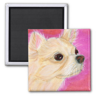 Long hair Chihuahua Magnet