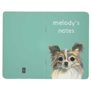 Long Hair Chihuahua Watercolor Portrait Journals