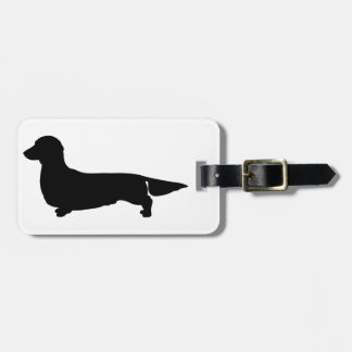 Long Hair Dachshund Luggage Tag
