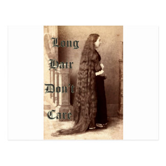 Long hair, don't care postcard