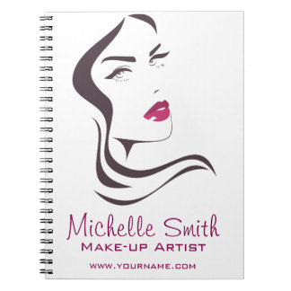 Long Hair hairdresser make up artist  branding Spiral Note Book